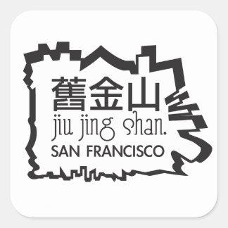 San Francisco - pegatina de la montaña del oro