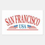 San Francisco Pegatina Rectangular