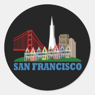 San Francisco Pegatina Redonda