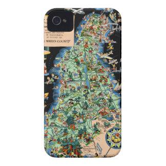 San Francisco Peninsula Funny Map iPhone 4 Covers