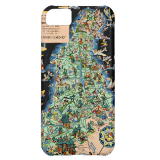 San Francisco Peninsula Funny Map Case For iPhone 5C