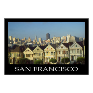 San Francisco Photo Art Poster - Alamo Square