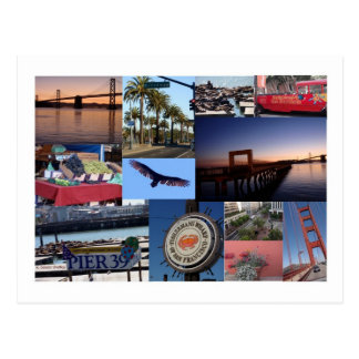 San Francisco Photo Collage Post Card