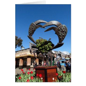 everydaylifesf San Francisco Pier 39 Crab Statue Greeting Card