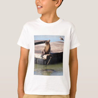 San Francisco Pier 39 Sea Lion Kids T-shirt