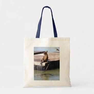 everydaylifesf San Francisco Pier 39 Sea Lion Tote Bag