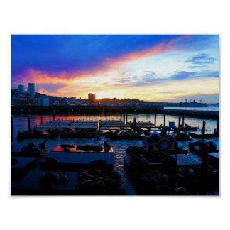 San Francisco Pier 39 Sea Lions #4-1 Poster