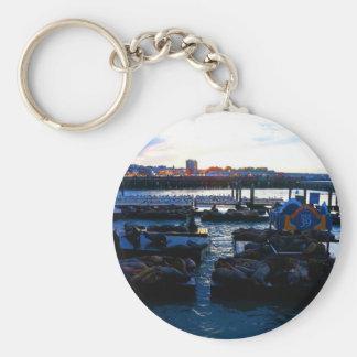 San Francisco Pier 39 Sea Lions #6 Keychain