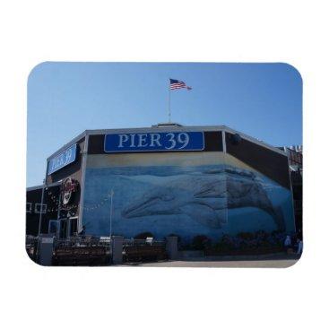 Beach Themed San Francisco Pier 39 Whale Mural Magnet