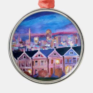San Francisco pintó a señoras Adorno Redondo Plateado