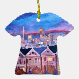San Francisco pintó a señoras Adorno De Cerámica En Forma De Camiseta