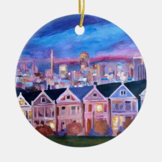 San Francisco pintó a señoras Adorno Redondo De Cerámica