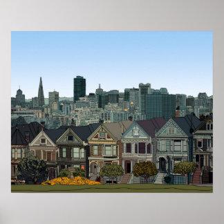 San Francisco pintó a señoras Póster