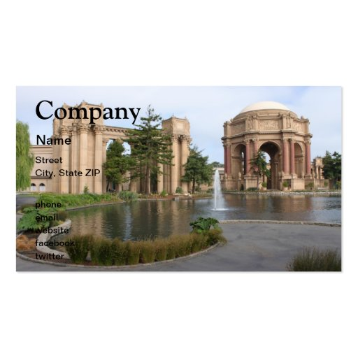 San Francisco Plantilla De Tarjeta De Visita