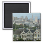 San Francisco Postcard Row City Scene Photography 2 Inch Square Magnet