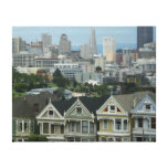 San Francisco Postcard Row City Scene Photography Canvas Print