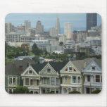 San Francisco Postcard Row City Scene Photography Mouse Pad