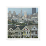 San Francisco Postcard Row City Scene Photography Paper Napkin