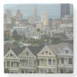 San Francisco Postcard Row City Scene Photography Stone Coaster