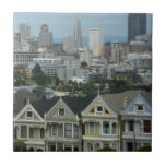 San Francisco Postcard Row City Scene Photography Tile