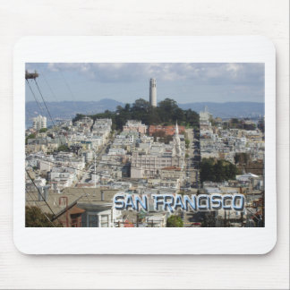 San Francisco Postcard Style Mouse Pad