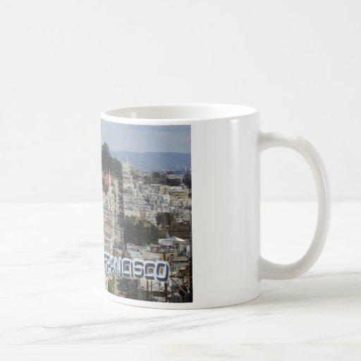 San Francisco Postcard Style Classic White Coffee Mug