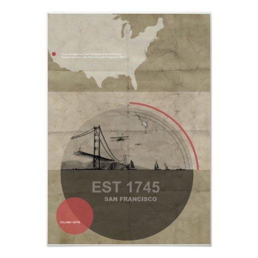 San Francisco Poster Custom Announcements