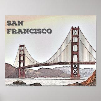 San Francisco - puente Golden Gate Póster