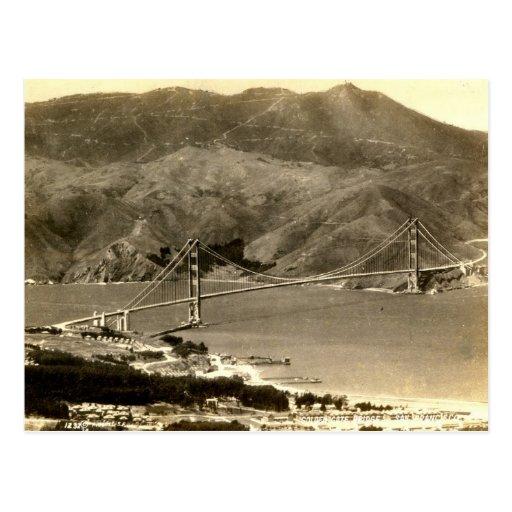 San Francisco, puente Golden Gate, vintage de los  Tarjetas Postales