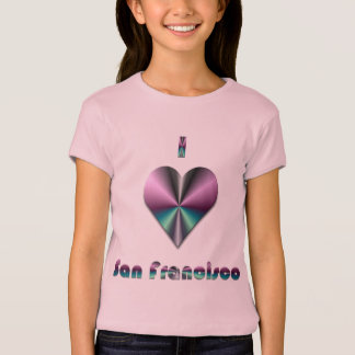 San Francisco -- Purple & Turquoise T-Shirt