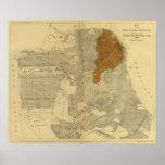 San Francisco quemó el área, 1906 Póster