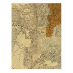 San Francisco quemó el área, 1906 Tarjeta Postal