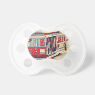 San Francisco,red blue Pacifiers