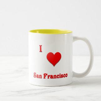San Francisco -- Red Two-Tone Coffee Mug