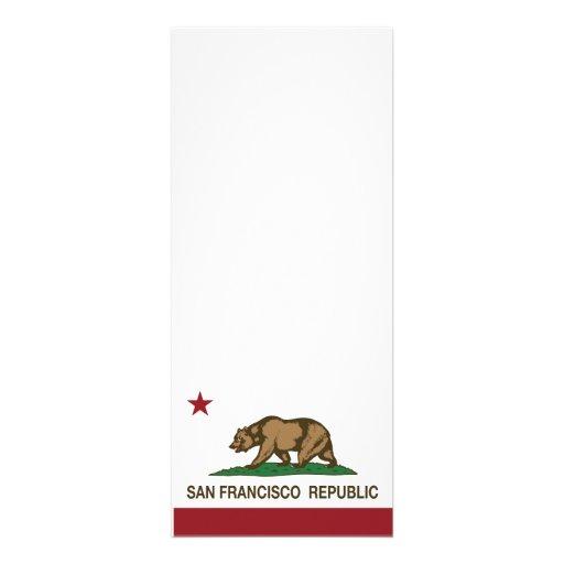 San Francisco Republic Flag Personalized Announcement