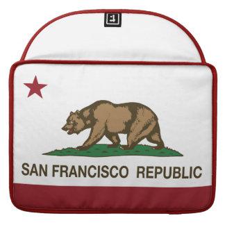 San Francisco Republic Flag Sleeve For MacBooks