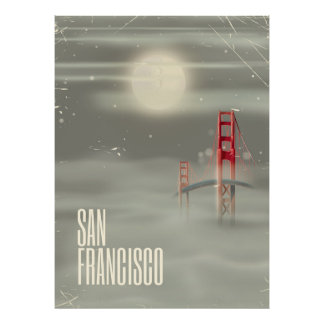San Francisco Retro Travel poster
