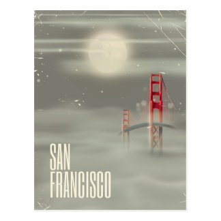 San Francisco Retro Travel poster Postcard