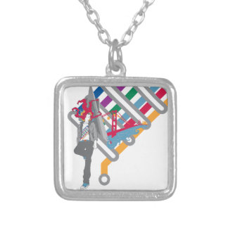 san francisco scene silver plated necklace