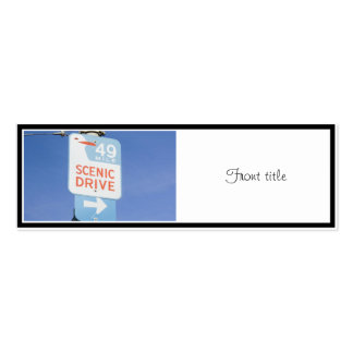 San Francisco Scenic Route Double-Sided Mini Business Cards (Pack Of 20)