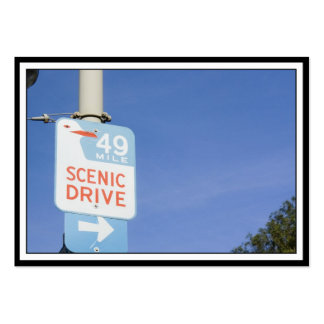 San Francisco Scenic Route Large Business Cards (Pack Of 100)