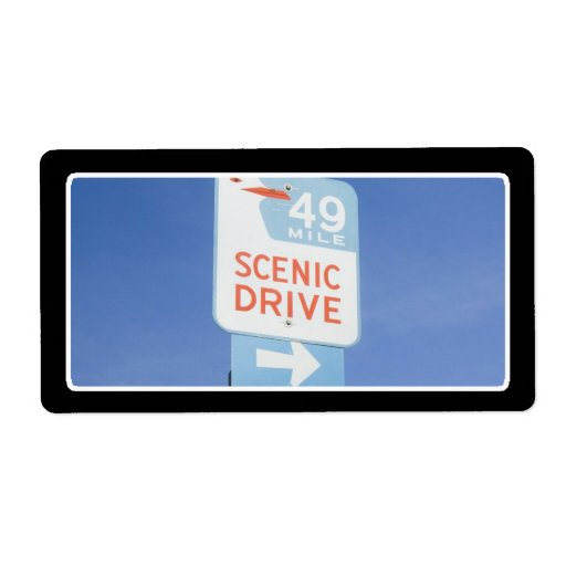 San Francisco Scenic Route Custom Shipping Labels