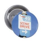 San Francisco Scenic Route Pinback Buttons