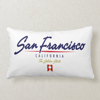San Francisco Script Lumbar Pillow