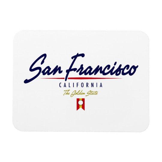 San Francisco Script Magnet