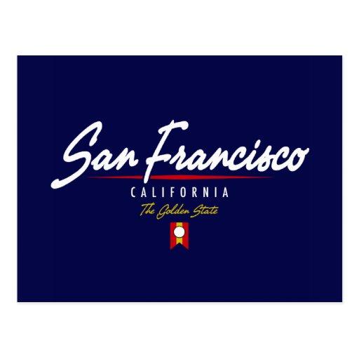 San Francisco Script Postcard