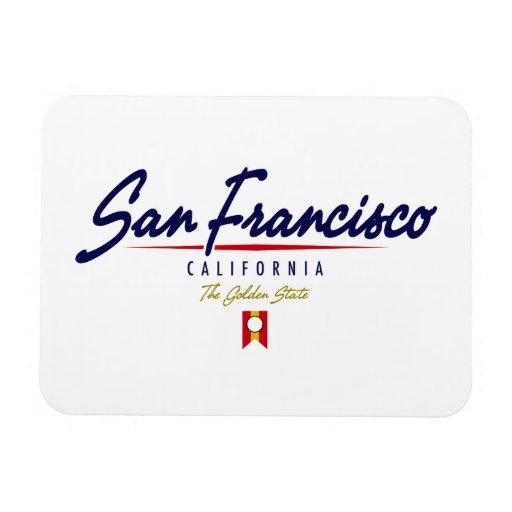 San Francisco Script Rectangular Photo Magnet