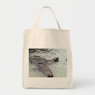 San Francisco Sea Lions Out For A Swim Grocery Tote Bag