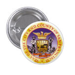 San Francisco Seal 1 Inch Round Button