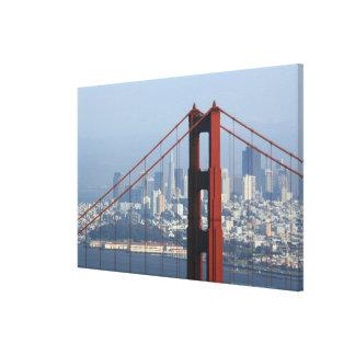 San Francisco seen trough Golden Gate Bridge. Canvas Print